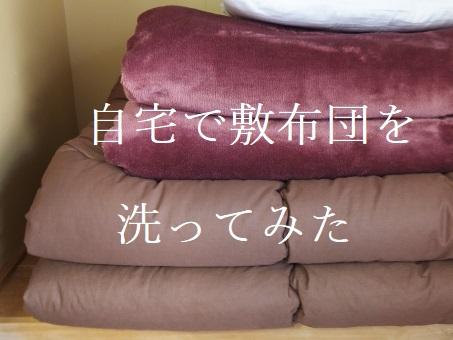 敷布団を自宅で洗ってみたところ