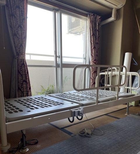 介護用フランスベッドを隣の部屋に移設した