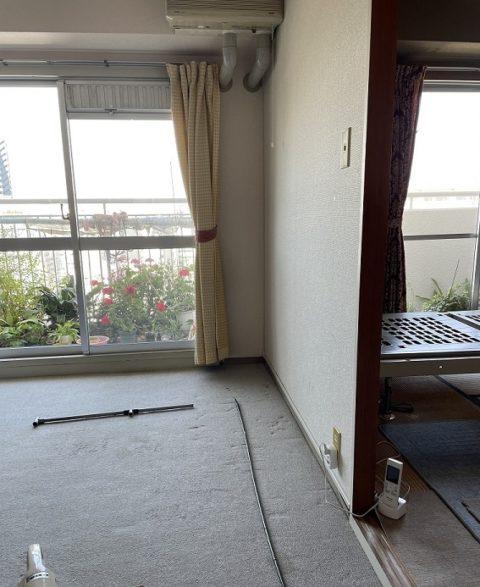 介護用フランスベッドを隣の部屋に移動する前の写真
