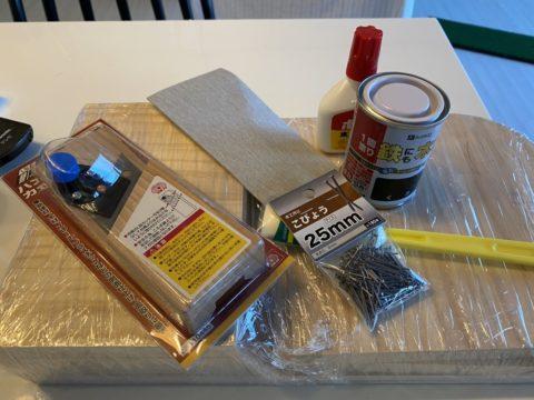 犬の食事台を作るための材料