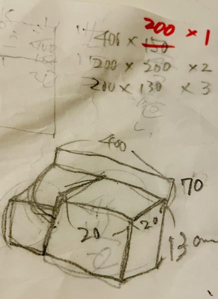 手作りの犬のご飯台の設計図